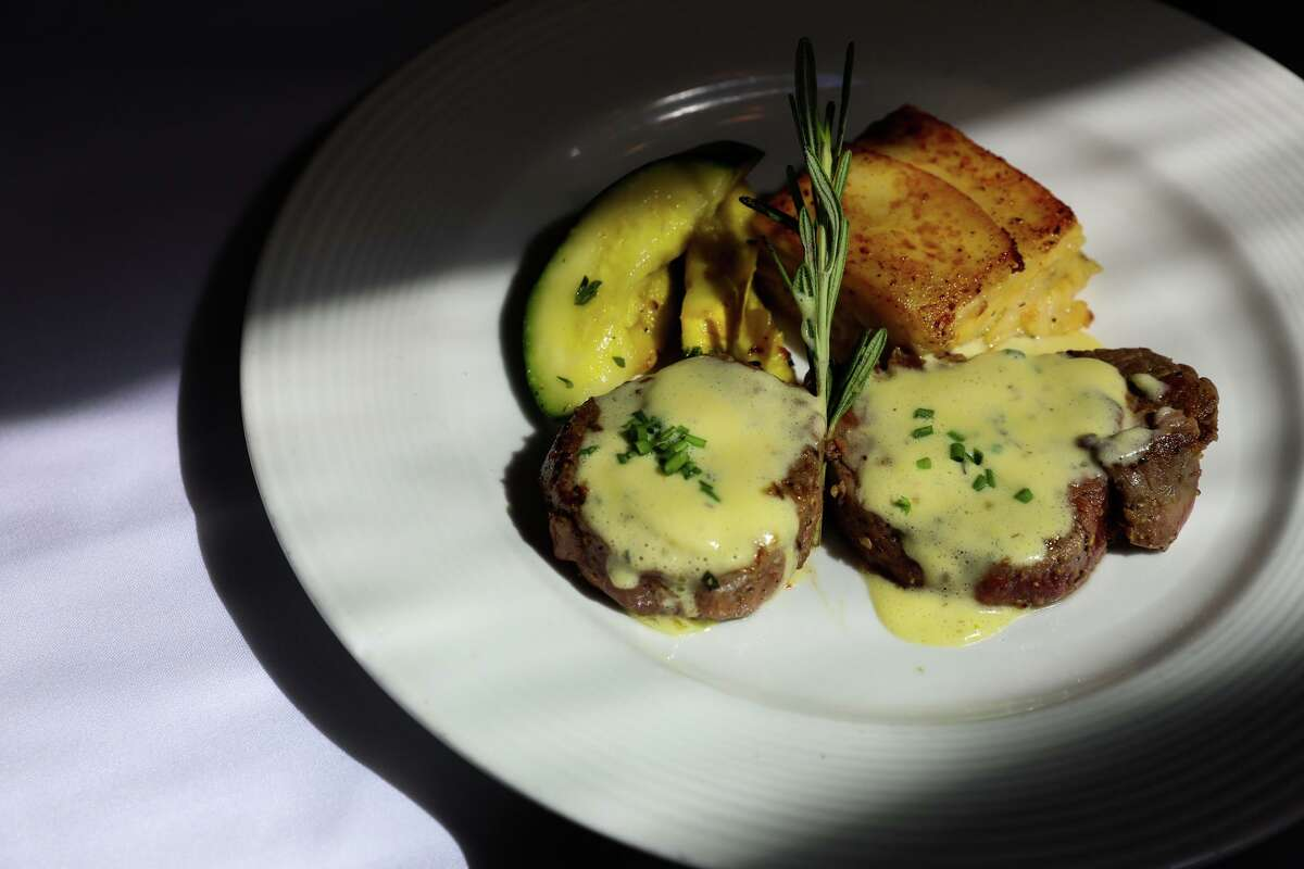 Medallions of beef at John's Grill, which has been open in S.F. since 1908.