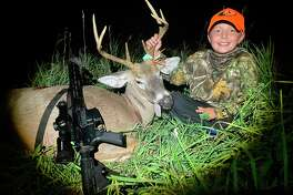 Boaz Green, 8, enjoys deer hunting with his family. (Ean Green/Courtesy Photo)