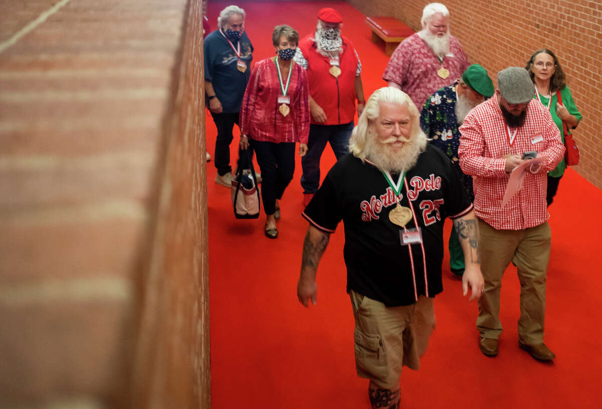 Nearly 200 participants of the annual Charles W. Howard Santa Claus School attend the first day of this year's conference Thursday, Oct. 14, 2021 at Midland Center for the Arts. (Katy Kildee/kkildee@mdn.net)