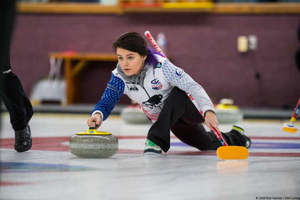Dow High alum Delaney Strouse competes in a USA Curling event in this undated photo.
