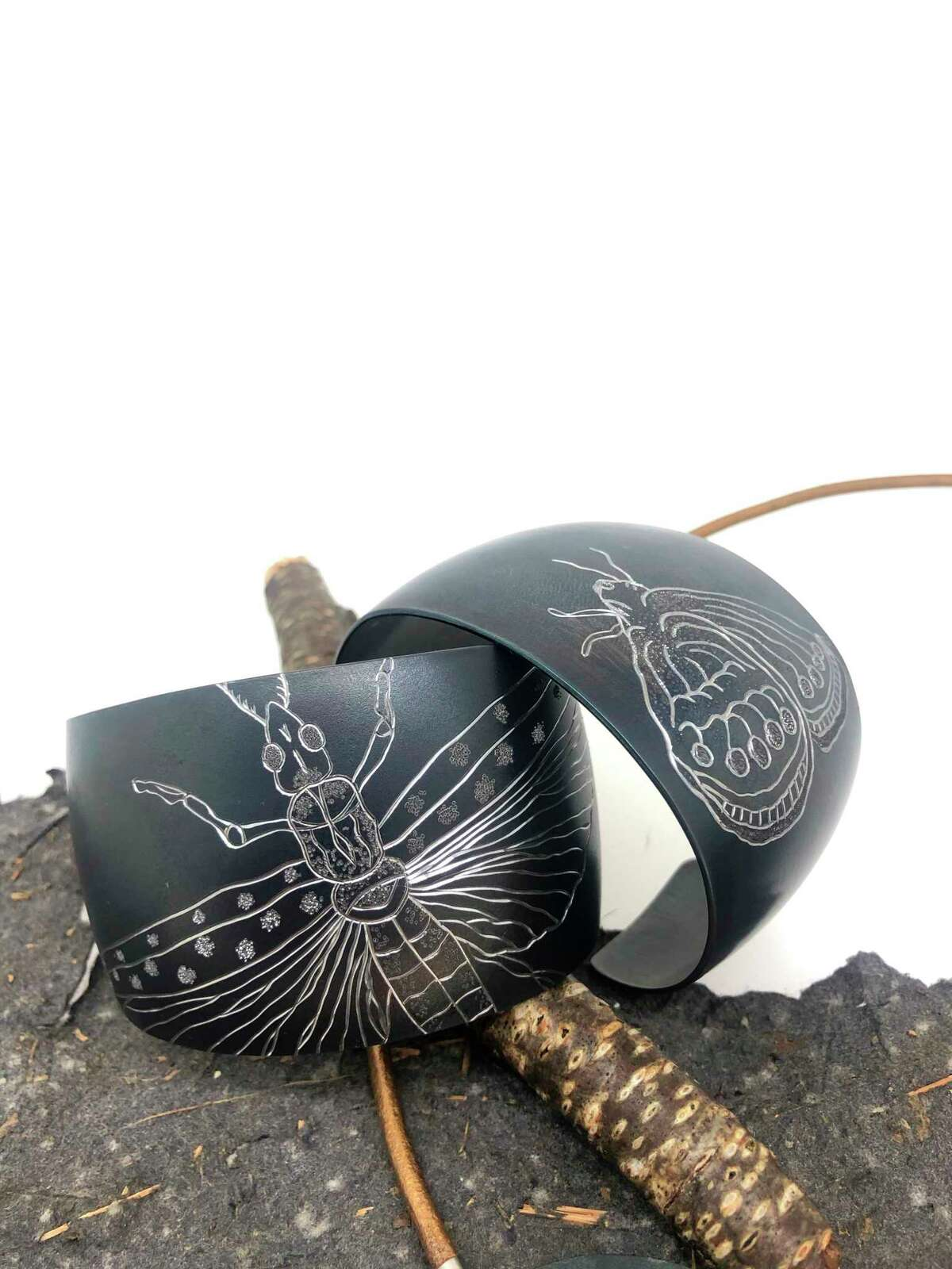 Michigan jewelry designer Becky Thatcher has released a collection to raise awareness of an protect endangered insects. (Courtesy Photo)