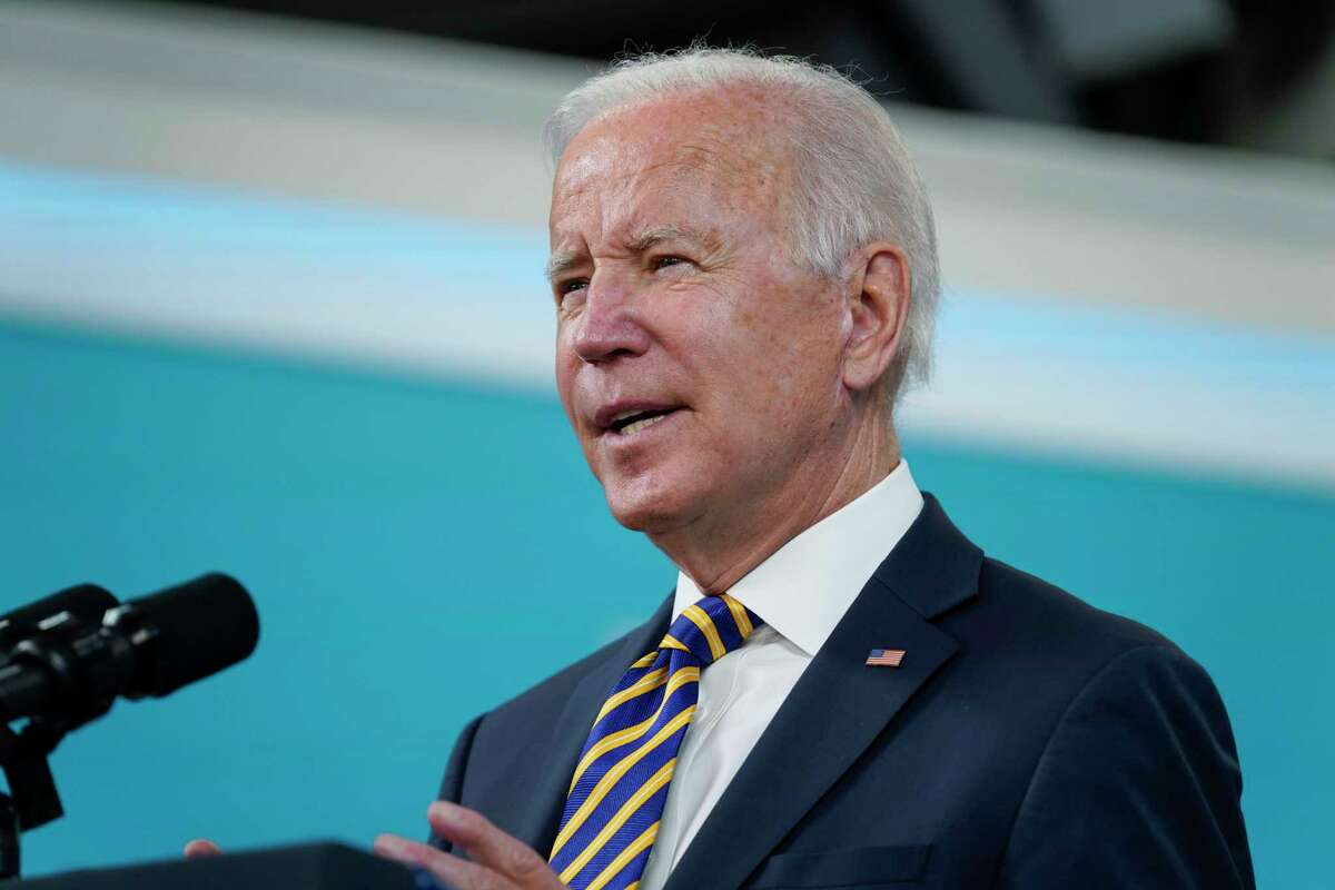 President Joe Biden is expected to stop in Hartford and Storrs, Conn., on Friday, Oct. 15, 2021.