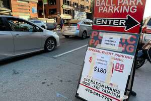 Parking for Game 5 of the NLDS between the Dodgers and Giants was not cheap near Oracle Park in San Francisco.