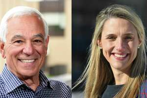 Bobby Valentine, who is running as an unaffiliated canddiate, and state. Rep. Caroline Simmons, D-Stamford, are both vying to be Stamford's next mayor.
