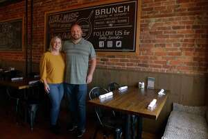 Kelly and Jason LaReau, owners of J. Lawrence Downtown kitchen & bar in Bethel, Conn. Friday, October 15, 2021.