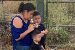 U.S. Border Patrol agents said they rescued these two children from the current on the Rio Grande. The children were turned over to their mother, who was part of a group of migrants who tried to cross the border illegally.