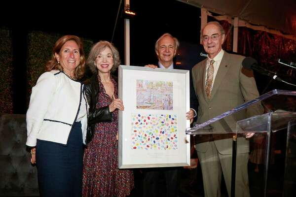 Haley Rockwell Elmlinger, Barbara Dalio, Ray Dalio and Peter Malkin at the History in the Making Award Benefit for the Greenwich Historiical Society at the Belle Haven Club on Oct. 13.