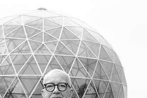 R. Buckminster Fuller, an American architect, systems theorist, inventor and legendary designer. Fuller also served on SIUE faculty. He dedicated his dome at the Southern Illinois University Edwardsville campus 50 years ago and the Center for Spirituality and Sustainability will celebrate the golden anniversary with the public.