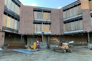 Norwalk Public Schools administrators and several board of education members toured Jefferson Elementary School on Thursday, Oct. 15 to survey the progress on the renovations. The building is scheduled to reopen for the 2022-2023 school year.