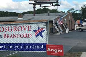 The property on North Main Street in Branford owned by a company affiliated with Branford First Selectman Jamie Cosgrove and his family, and housing ACA Landscaping, which has contracts with the town.