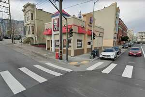 The KFC-Taco Bell at 200 Duboce in San Francisco is now just a KFC.