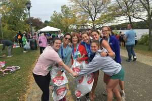 Audrey Nadeau of Delmar, Sandy West of Clifton Park, Marva Nadeau of Cohoes, Shannon Fitzpatrick of Washington D.C., Kelly Fitzpatrick of Los Angeles, Susan Fitzpatrick of Loudonville  and Katie West of Baltimore.