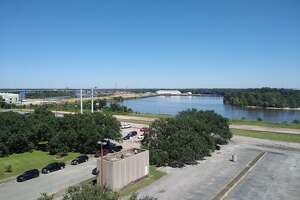 Views from the top of the AT&T Building, slated for demolition by majority vote of the Beaumont City Council.