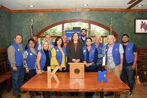 Members of the Kiwanis Club of Laredo gathered at a Danny's Restaurant to listen to District VII Councilmember Vanessa Perez about her platform and her work since being elected.
