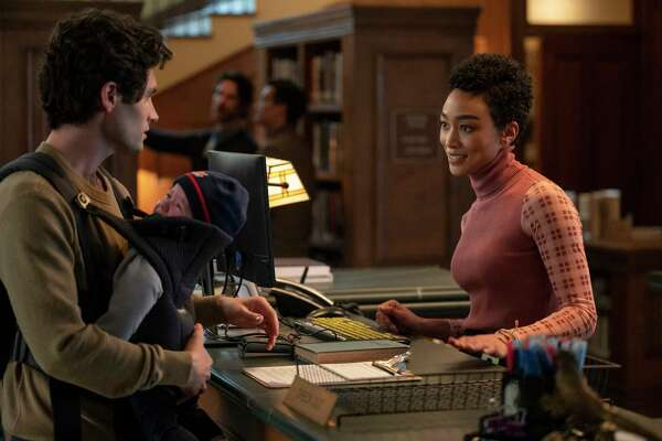 """Joe (Penn Badgley), now a new father, targets Marienne (Tati Gabrielle) as his latest obsession in the third season of """"You."""""""