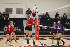 Bear Lake, Brethren and Manistee Catholic Central all compete at the West Michigan D League volleyball tournament on Oct. 16 at Mesick.