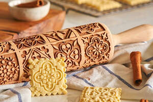 Pastrymade Christmas Engraved Rolling Pin  for $24.95 at Etsy