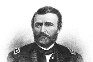 FILE - A printed image of President Ulysses S. Grant.