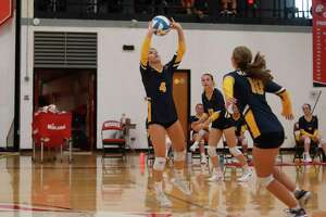 Raegan Codden took over setting duties this year as a senior after previously playing libero. (File photo)