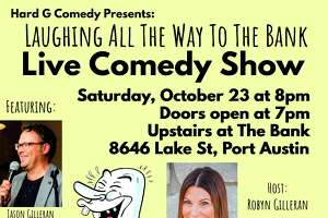 Hard G Comedy will be performing at The Bank 1884 in Port Austin on Oct. 23. Another show is planned for Caseville on Nov. 20, with details still being worked out. (Courtesy Photo)