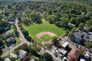 Barrett Park in Stamfordon Tuesday. After community members campaigned for Barrett Park to be repaired, the city will now hold three public meetings to draw up a new plan for the park.