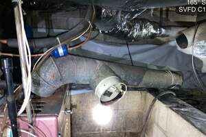 The Sherman Volunteer Fire Department responded to a carbon monoxide leak with potentially lethal consequences Tuesday morning. They found that a flute pipe had separated from a furnace and chimney had caused the leak.