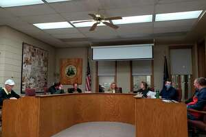 The Bad Axe City Council talks during its Oct. 18 meeting, where members discussed how to move forward on the city's siren. The council will discuss it further at its Nov. 15 meeting, with the public encouraged to attend and make their comments known. (Robert Creenan/Huron Daily Tribune)