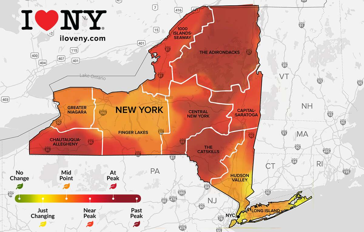 The peak is nigh in the Hudson Valley this week, according to the Oct. 20 - Oct. 26 I Love NY fall foliage report.