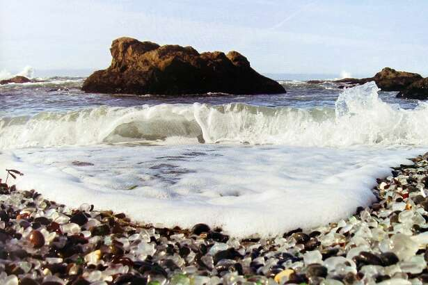 """An old photograph of Fort Bragg's former dump, originally published in """"Beaches of Glass"""" by Captain Cass Forringer."""