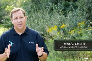 """Pictured is Marc Smith, policy director for the Great Lakes Regional Center of the National Wildlife Federation speaking in the film """"Changing Seasons."""""""