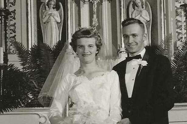 Joseph and Agnes Wegener at their wedding.