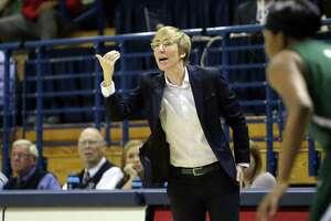 Yale women's basketball coach Allison Guth.