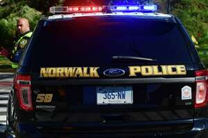 Norwalk Police officers on duty Tuesday, October 19, 2021, in Norwalk, Conn.