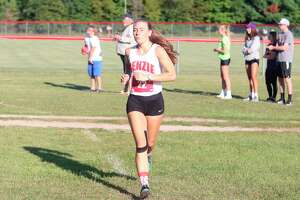 Maya Musgrave races at Benzie Central earlier this season. (File photo)