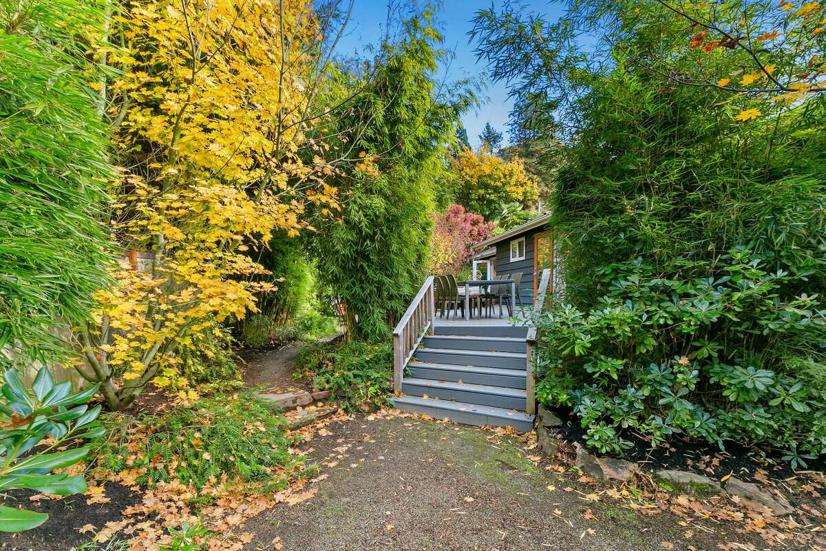 On the 6,000-square-foot lot are several spots to enjoy the serene setting.