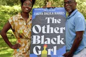 Zakiya Dalila Harris and her father, Frank Harris III, at Edgerton Park New Haven in June 2021.