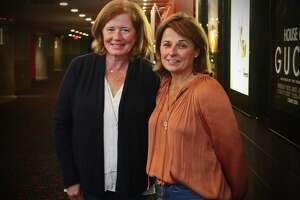 Greenwich residents Michelle Howe, left, and Kerry Anderson moved the Morning Movie Club to Stamford's Majestic Theater after the Greenwich cinema closed. The club, which screens films once a month from October to May, also has a chapter in Norwalk.