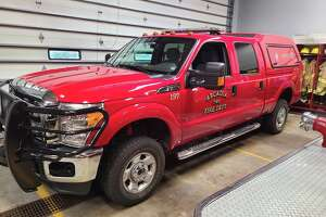 The Arcadia Township Fire Department recently converted its brush truck from its summer outfit to the winter one as temperatures started to dip.