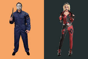 Michael Myers   and   Harley Quinn  , Party City