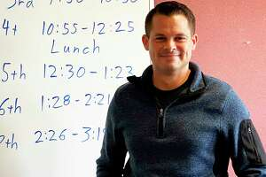 Special education teacher Chad Craig is one of Bad Axe High School's newest educators. The district hired eight new teachers for the 2021-2022 school year after a spate of retirements. (Mark Birdsall/Huron Daily Tribune)