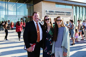 """Kirk Edwards and family during the ceremonies held this past week at The D. Kirk Edwards Family Human Performance Center, also known as """"The Kirk."""""""