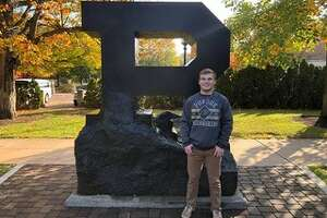 Dow High alum Brennan Doyle poses on the campus of Purdue University in this undated photo.