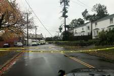 Stevens Street is closed between Stuart Avenue and Rhodonolia Drive because of a power line down on Tuesday, Oct. 26, 2021.