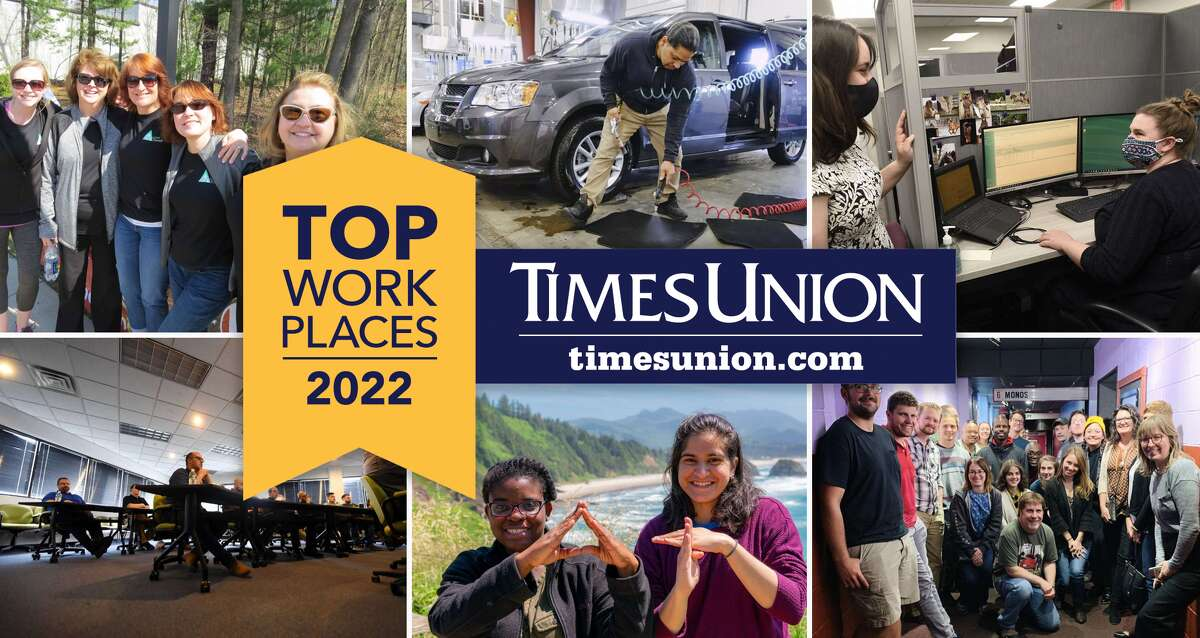 Times Union top workplaces 2021 winners.