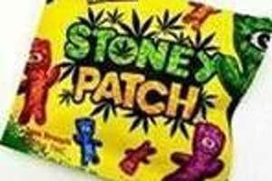 """The Connecticut Attorney General sent out this photo of a package of """"Stoney Patch,"""" a cited example of cannabis edibles designed to look like candy. The office said they haven't received complaints about this issue."""