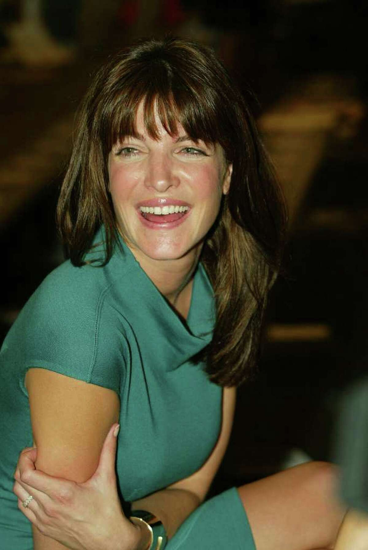 Model Stephanie Seymour attends the Proenza Schouler Spring/Summer 2004 Collection at Bryant Park during the 7th on Sixth Mercedes-Benz Fashion Week on September 17, 2003 in New York City.