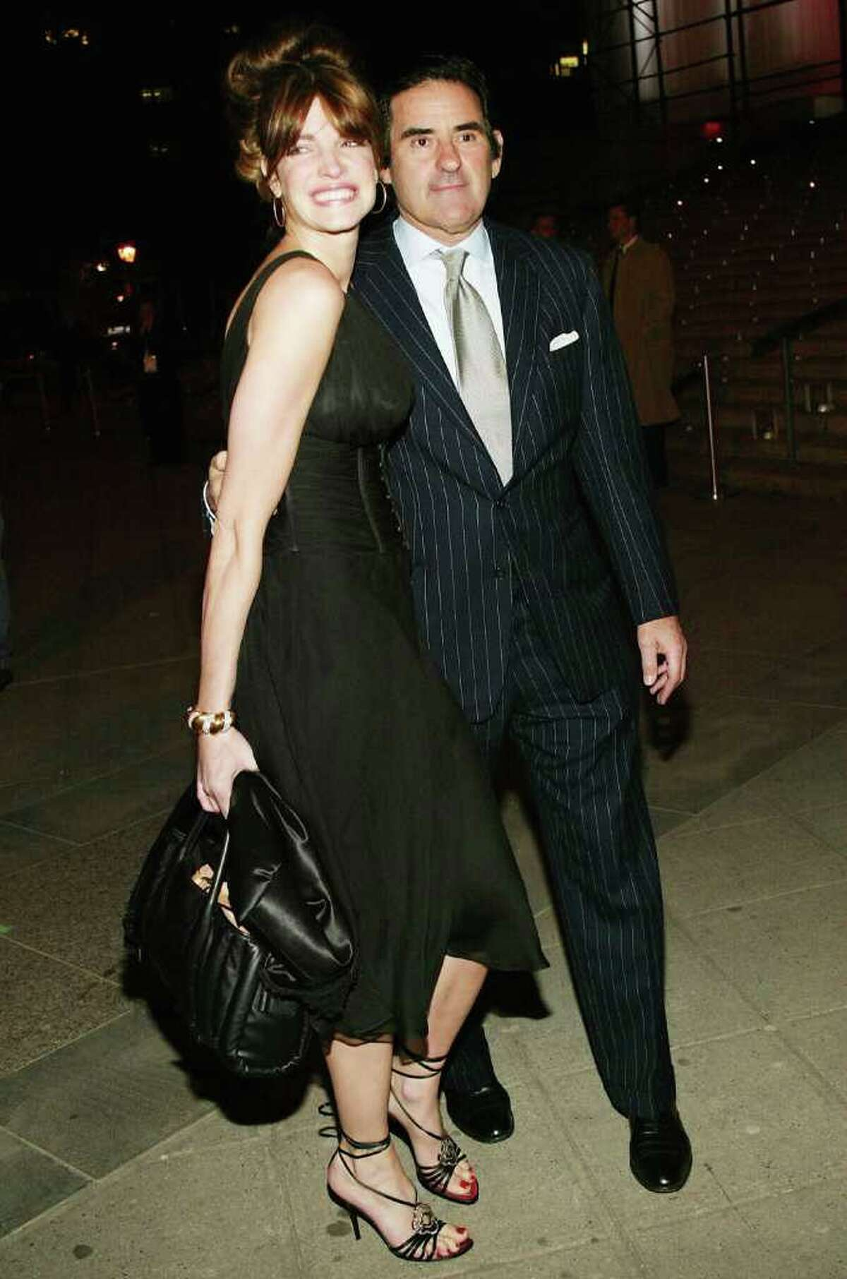 Model Stephanie Seymour and millionaire husband Peter Brant attend the Vanity Fair Party at the Tribeca Film Festival on May 4, 2004 in New York City.