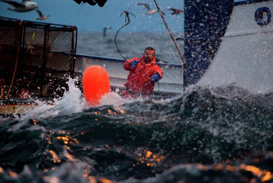The Northwestern and its crew work to catch King Crab on the Bering Sea during King Crab season on Deadliest Catch season six. (photo by Rick Gershon/Reportage by Getty Images) Photo: Rick Gershon, Reportage By Getty Images / Disovery Communications LLC