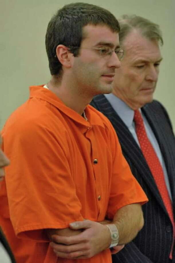 Christopher  Porco at his December 12, 2006, sentencing to two consecutive 25-years-to-life terms for the murder of his father, Peter, and the attack on his mother, Joan, in November 2004 at their Delmar home.  A state Court of Appeals judge has granted Porco the right to appeal his conviction. ( Philip Kamrass / Times Union archive )