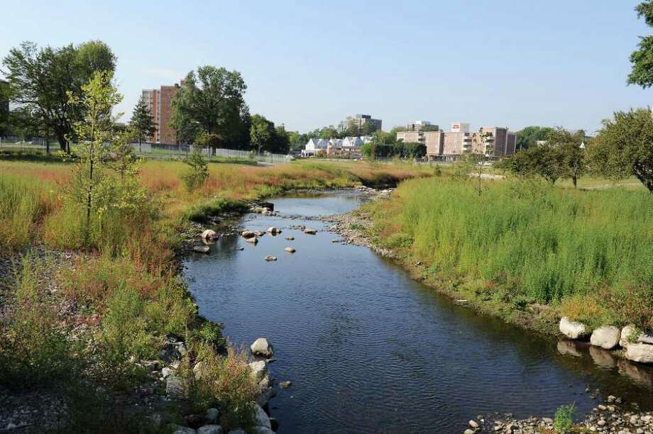After A Long Hot Summer Mill River Park Suffers Setback - A long river